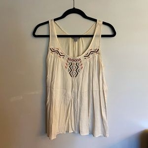 Rubbish Embroidered Tank Top